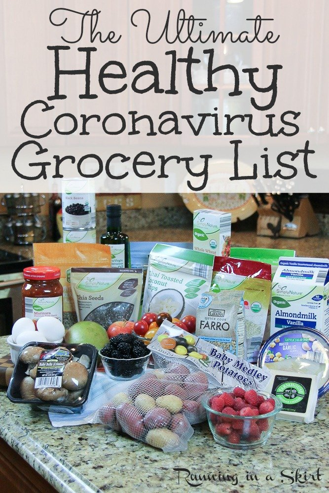 Ultimate Healthy Grocery List including lots of non-perishables and freezer food for emergencies. Perfect for a pescatarian or plant-based / vegetarian / vegan diet.  Clean eating too! This list and recipes also had meal plan ideas for a family for two weeks or for a month during times where you can't make it to the store. / #grocerylist #healthy #nonperishable #cleaneating #plantbased  via @juliewunder
