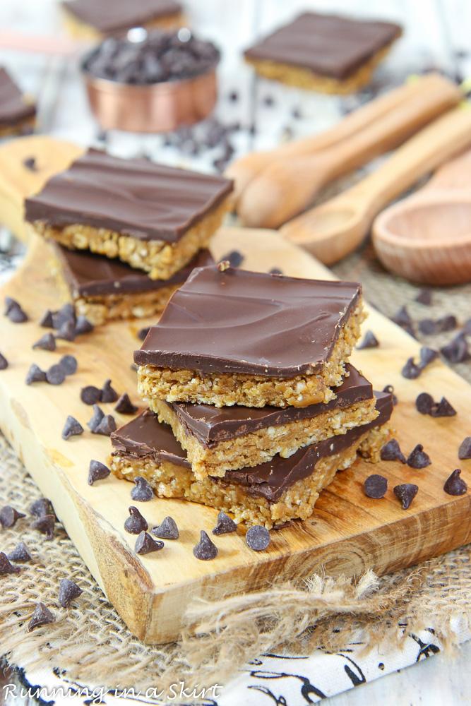 5 Ingredient No Bake Peanut Butter Bars recipe