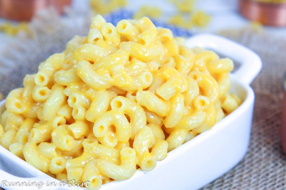 Close up of Healthy Mac & Cheese