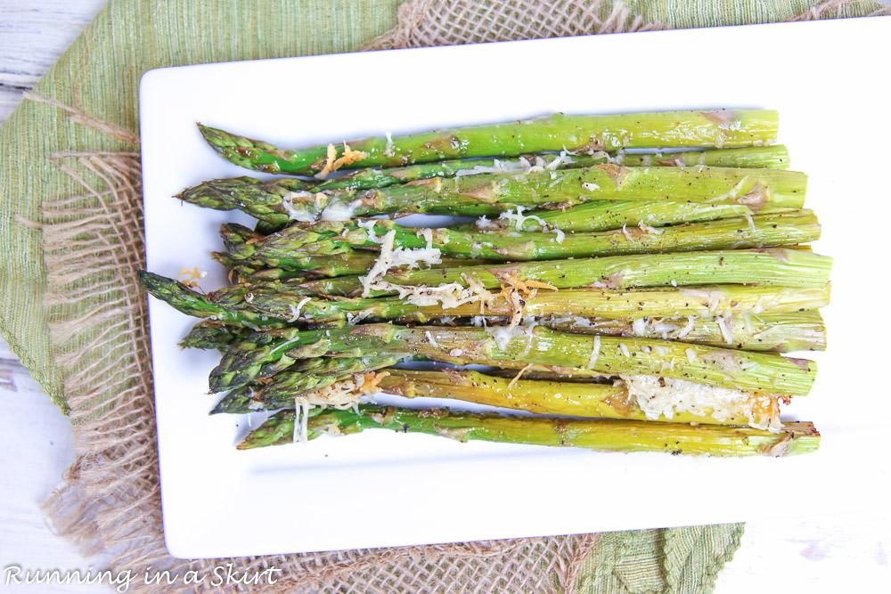 Garlic Parmesan Oven Roasted Asparagus recipe