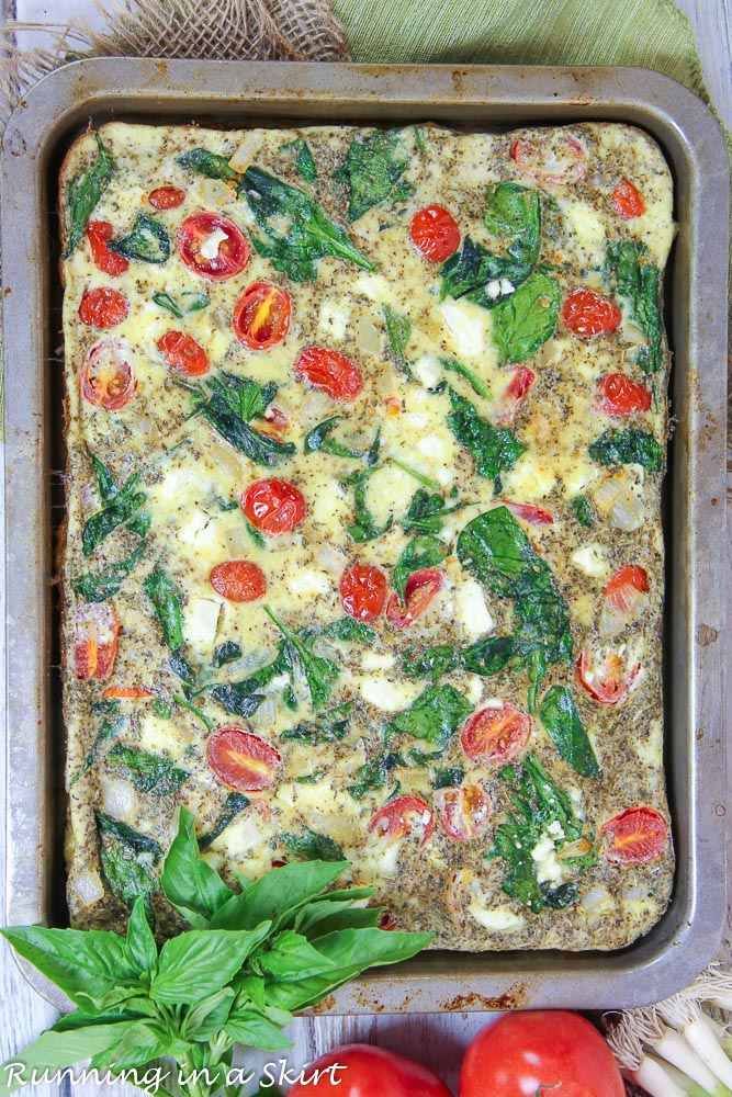 eggs, ricotta cheese, spinach and more veggie