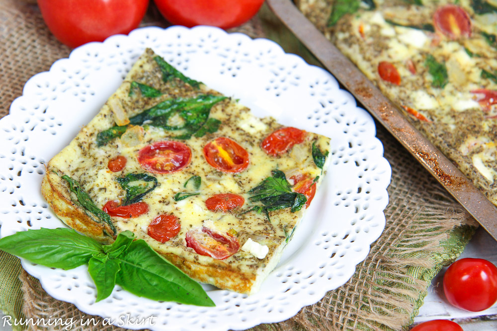 Healthy Vegetable Sheet Pan Frittata recipe