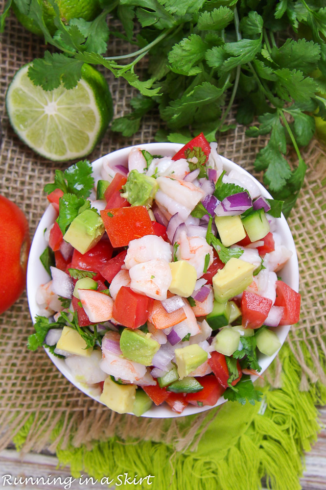 Finished product of Shrimp Salsa recipe