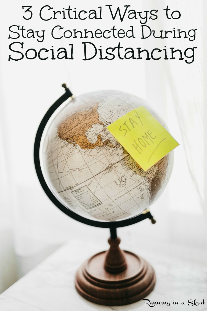 3 Critical Steps to Stay Connected During Social Distancing or During Quarantine.  Includes ways to connect with friends and long distance family.  Plus ways to keep in touch and the best way to share photos. / Running in a Skirt #socialdistancing #quarantine #healthyliving #photography via @juliewunder