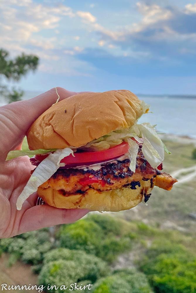 Marley's Shrimp and Burger shack shrimp burger