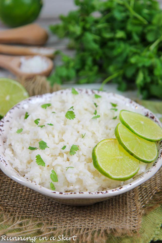 Cilantro, Lime and Coconut Rice