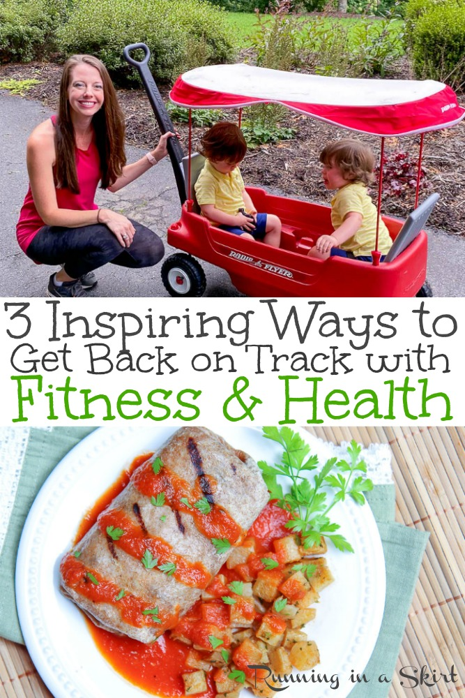 Health & Fitness Inspiration - 3 Inspiring Ways to Get Back on Track with Fitness and Health. Including motivational ways to include healthy living, healthy eating, mental well being, and exercise in your daily life. / Running in a Skirt #fitness #healthyliving #FocusonFitness #health #vegan @YourRingHero @veestrofood @benononsense @nature_valley @ancientnutrition via @juliewunder