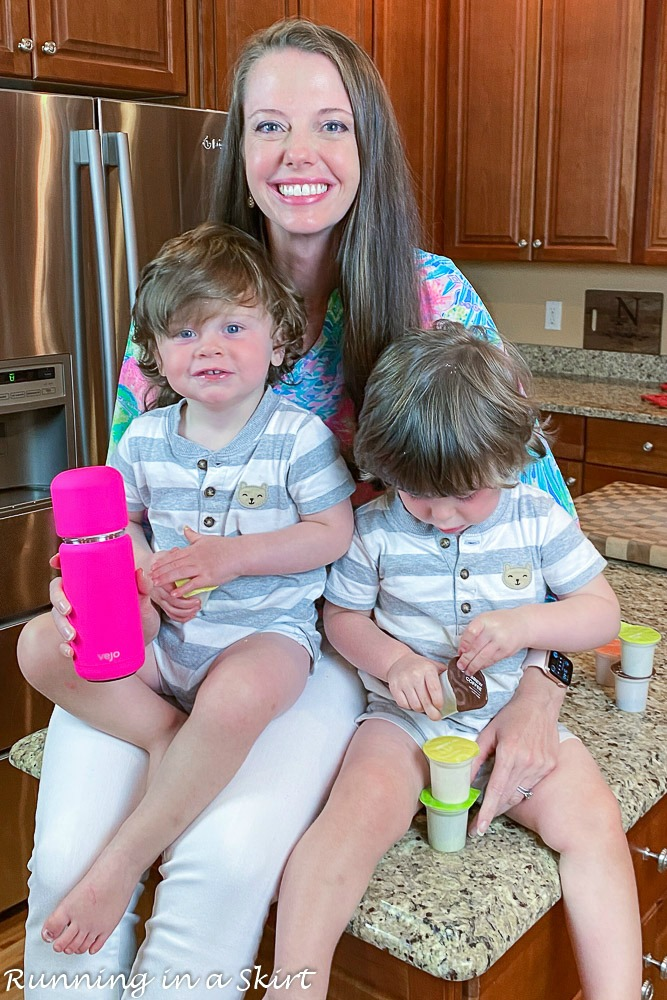 Mom with twins and Vejo blender