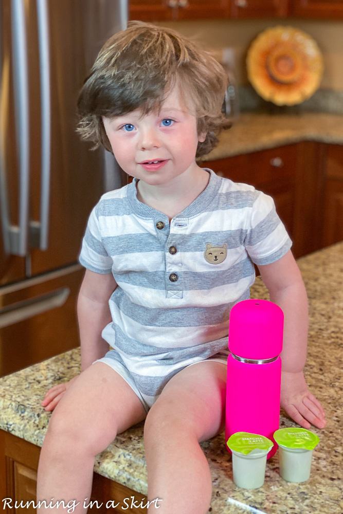 Toddler with Vejo Blender