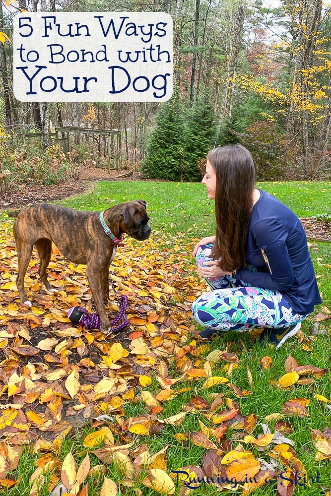 How to Bond with Your Dog pinterest pin