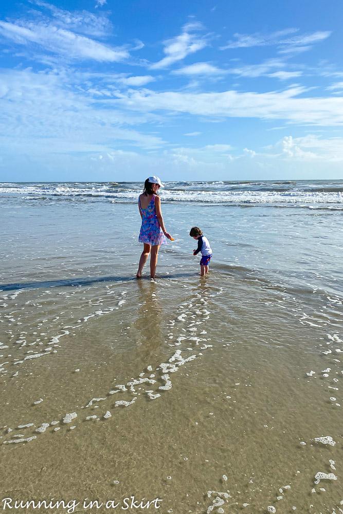 Mom and Toddler on Amelia Island Beach.