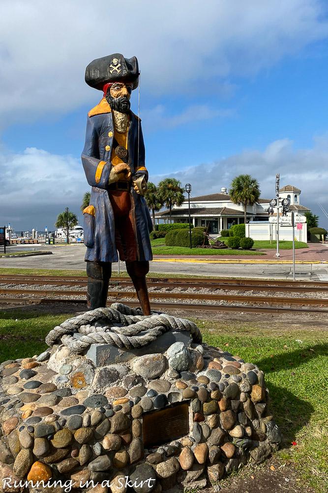 Pirate statue in Downtown Fernandina.