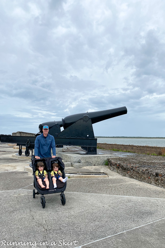 Cannons at Fort Clinch.