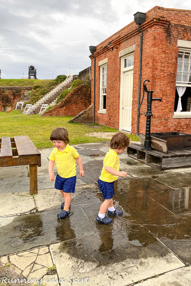 Toddlers at Fort Clinch.