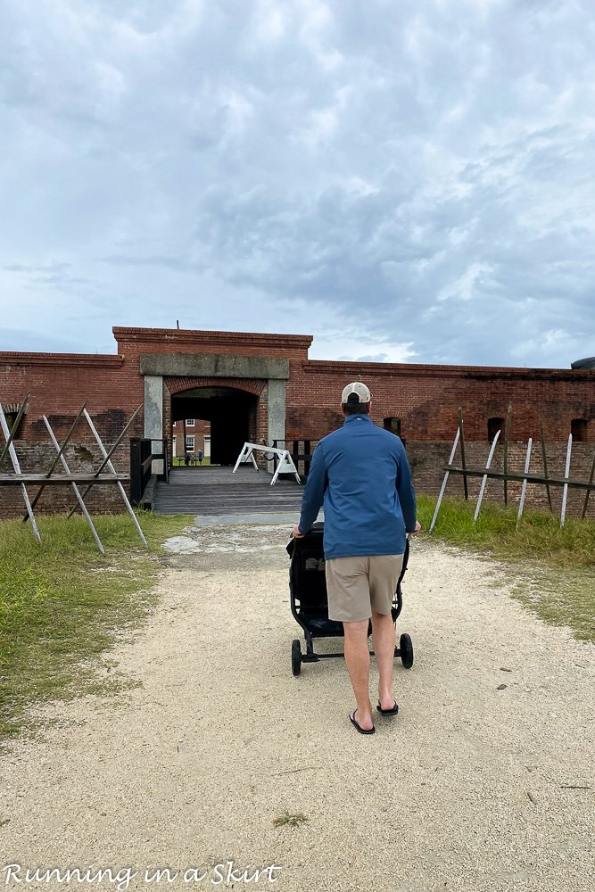Entrance to Fort Clinch State Park.