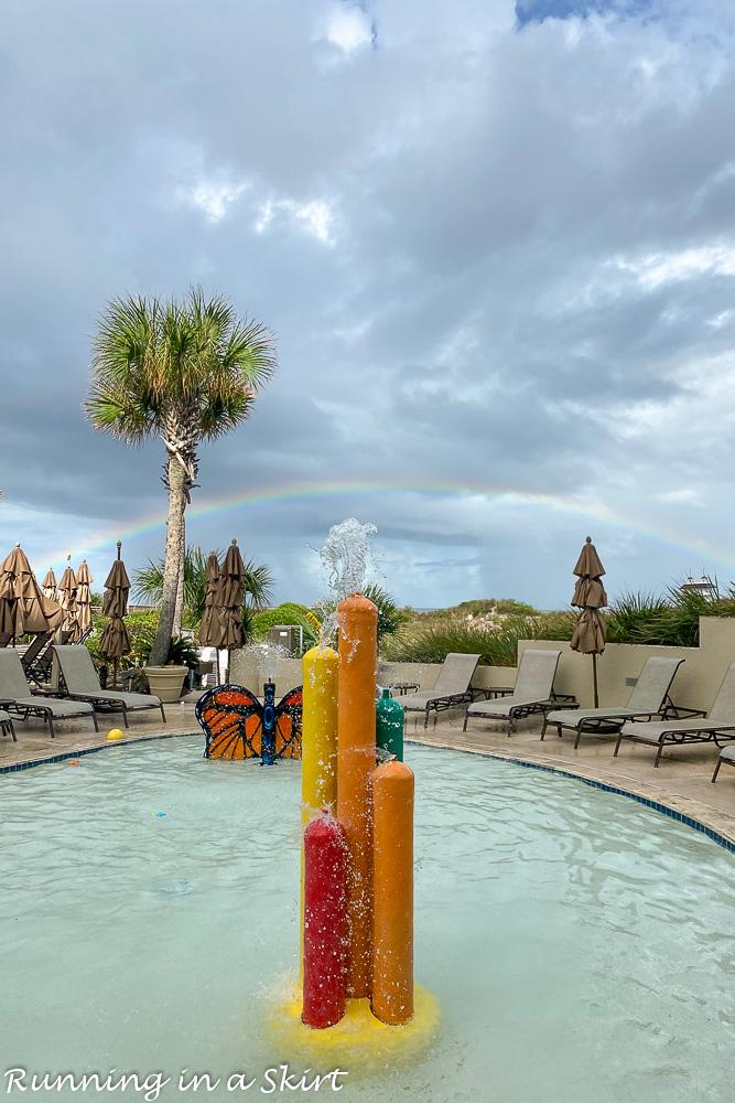 Rainbow at Ritz Amelia Island Pool