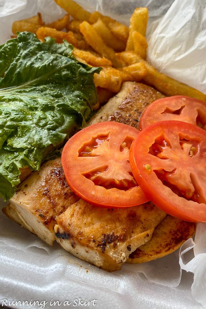 Blackened Fish Sandwich shuckers