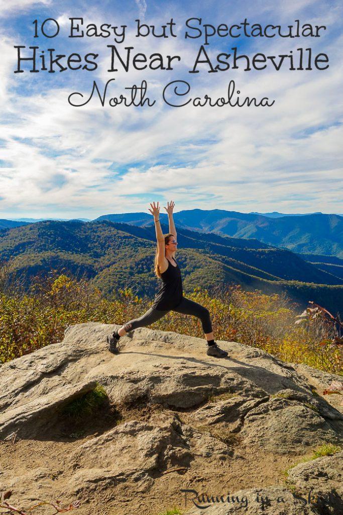 10 Best Hikes near Asheville NC pinterest pin.