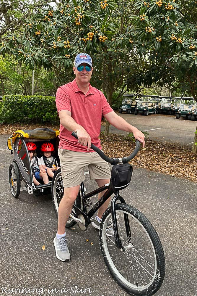 Biking in Amelia Island Plantation.