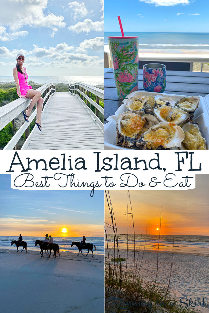 Amelia Island Florida - Things to Do & Restaurants You Can't Miss! Amelia Island Travel Guide with what to do, where to eat and where to stay from resorts (Ritz or Omni) to beach rentals. Includes the best beaches, state parks, historic Downtown Fernandina Beach, horseback riding, biking, outdoor adventures, shopping and items to add to your bucket lists. Plus the best restaurants in Amelia Island AND the dishes to try at restaurants. / Running in a Skirt #AmeliaIsland #Florida #TravelGuide via @juliewunder