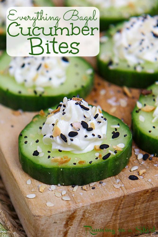 Everything Bagel Cucumber Bites pinterst pin.