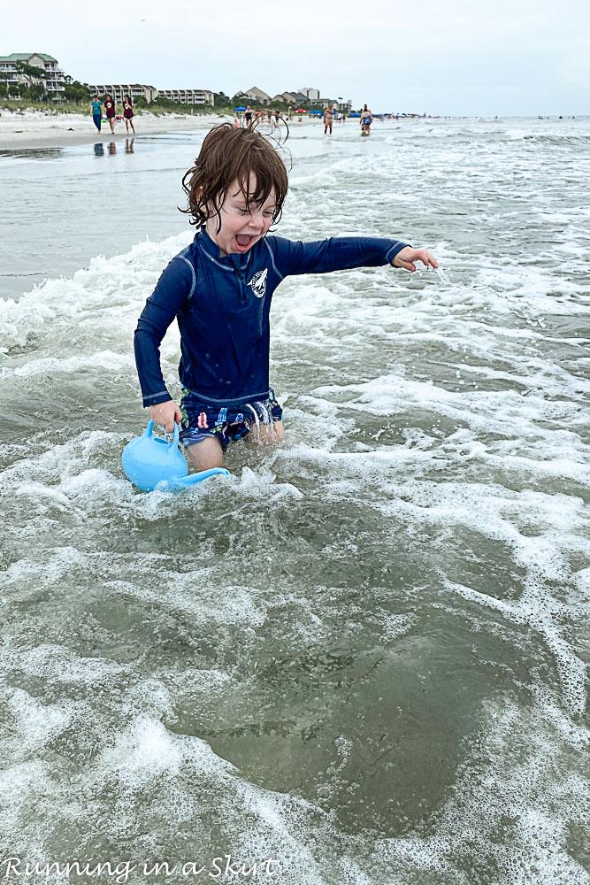 Hilton Head Toddler on Beach