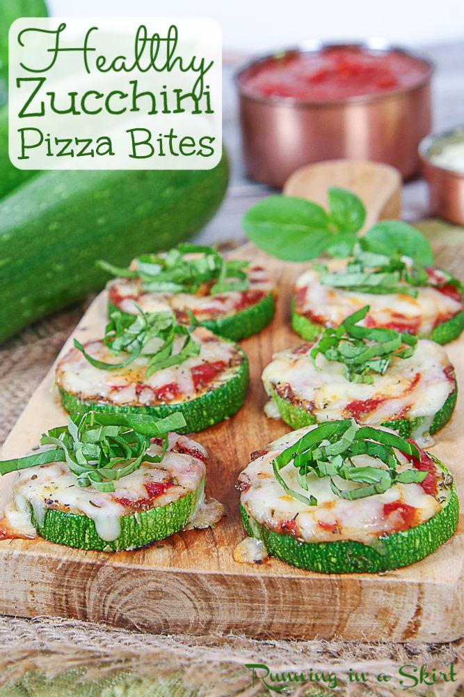 Zucchini Pizza Bites pinterest pin.