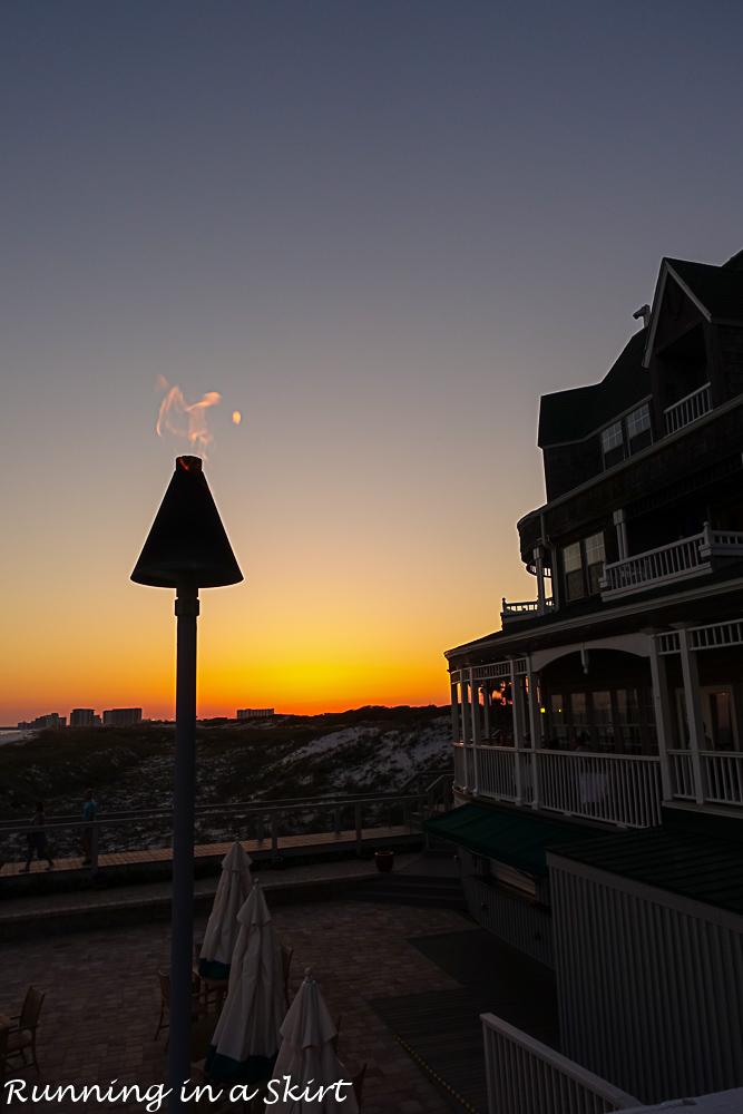 Best restaurants in Destin FL - Beach Walk Sunset view