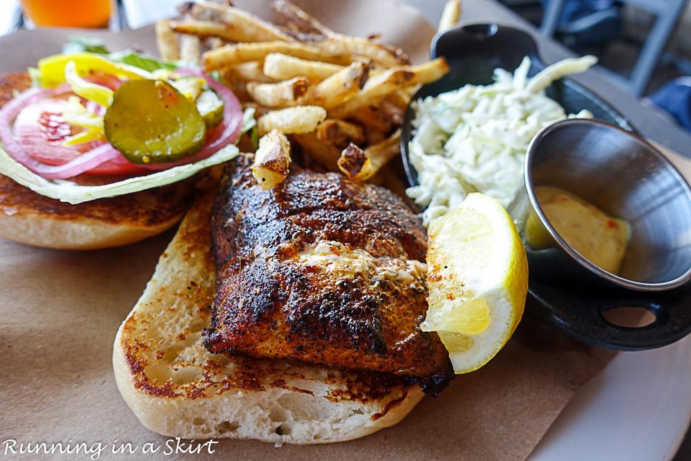 Boshamps in Destin FL Blackened Fish Sandwich