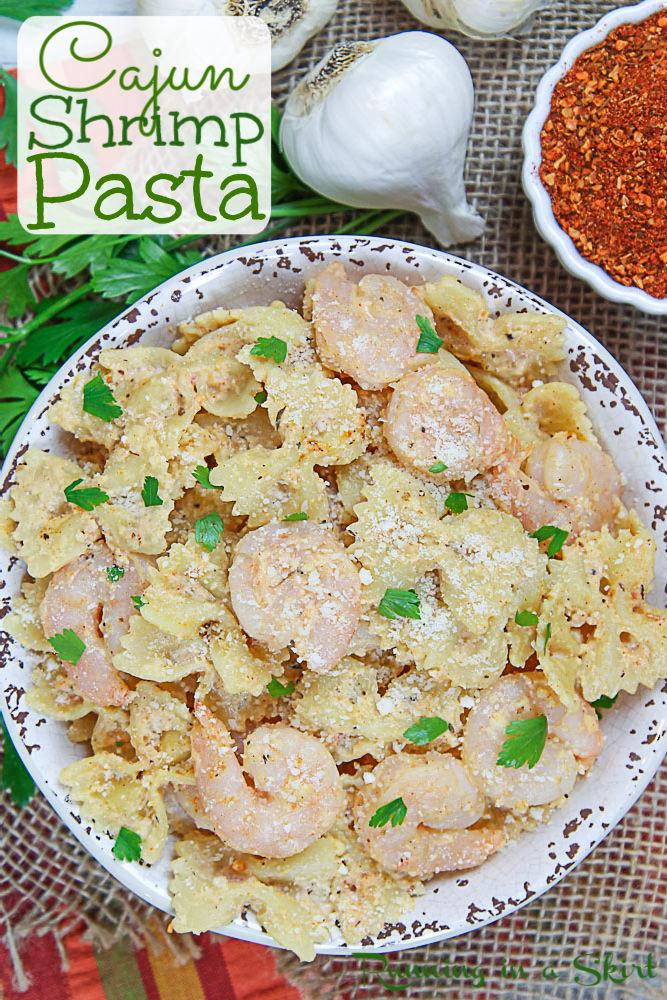 Cajun Shrimp Pasta Recipe Pinterest Pin