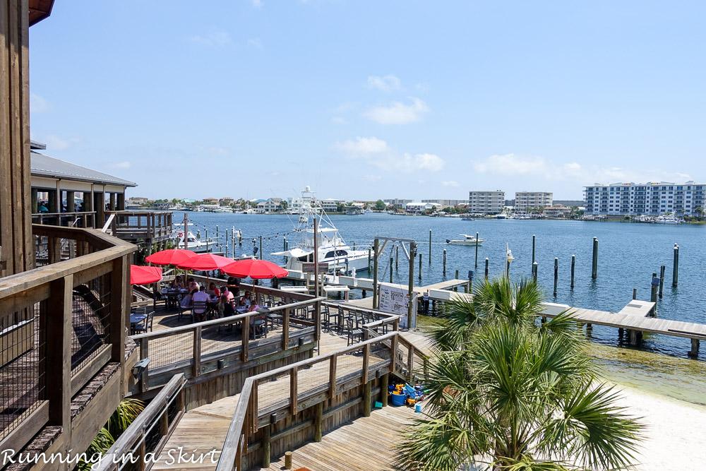 View from Boshamps restaurant in Destin FL.