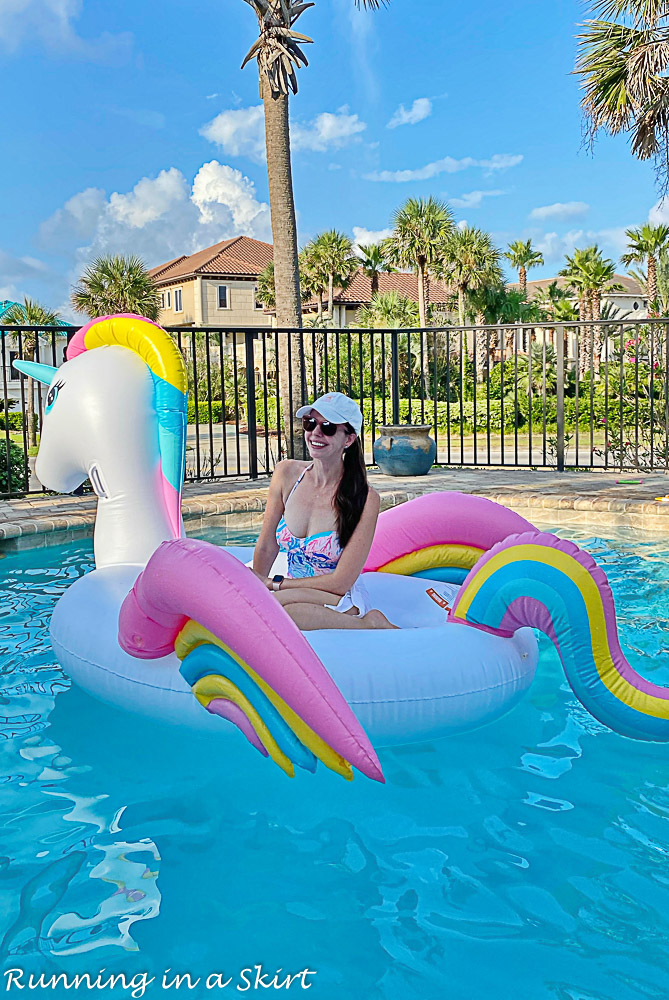 Destin Pools with unicorn float.