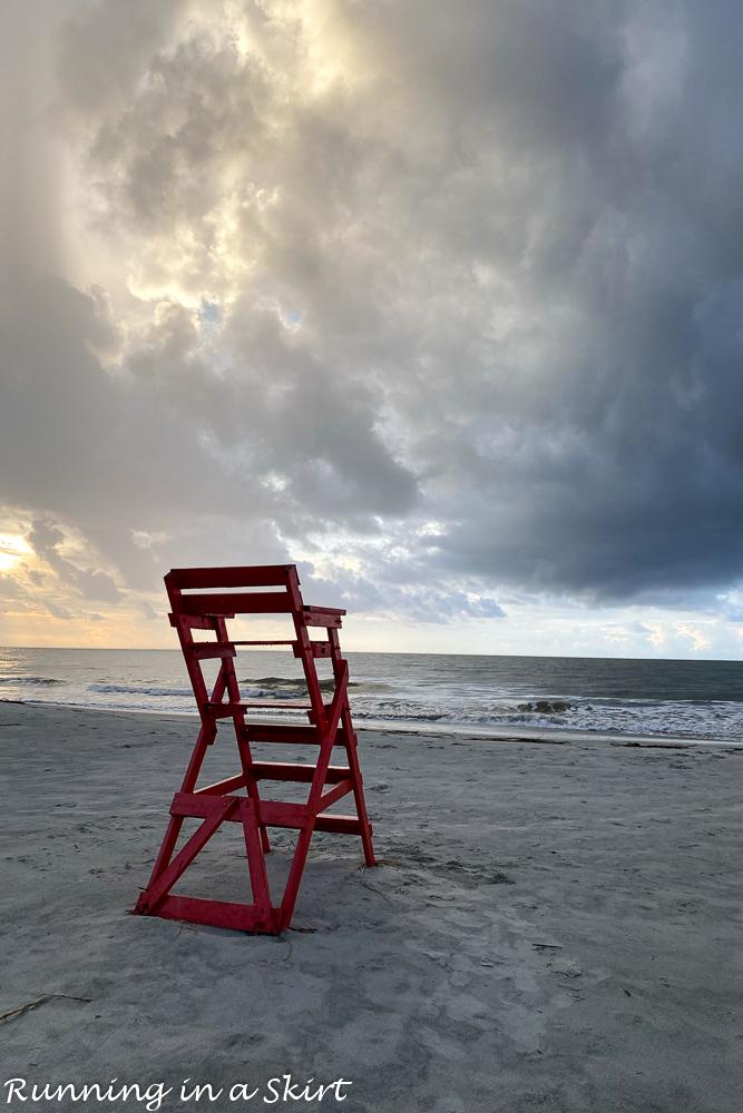 St. Simons Island GA lifeguard stand.